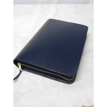 Bibelhülle, Kunstleder, Nappa-Soft, blau für Hausbibel
