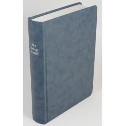 Schreibrandbibel, kleinere Ausgabe, Hardcover, graublau