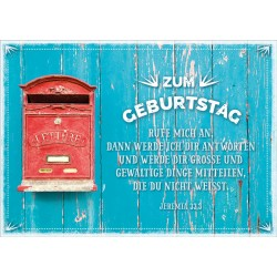 Faltkarte zum Geburtstag - Briefkasten