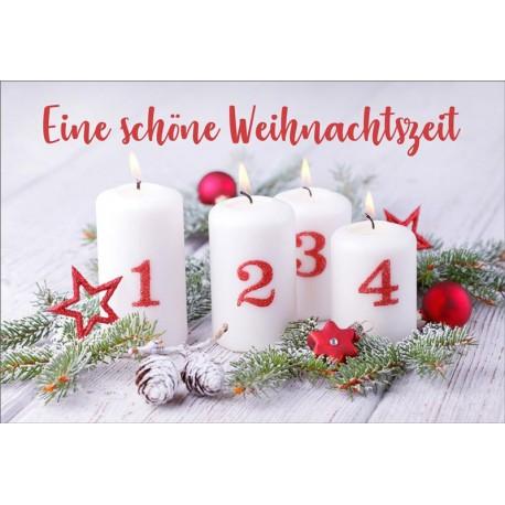 Faltkarte Weihnachten - Kerzen