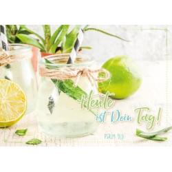 Faltkarte zum Geburtstag - Heute ist dein Tag / Zitronen