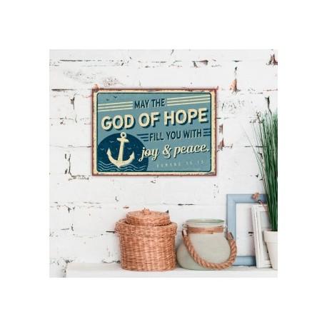 Metallschild klein - God of hope