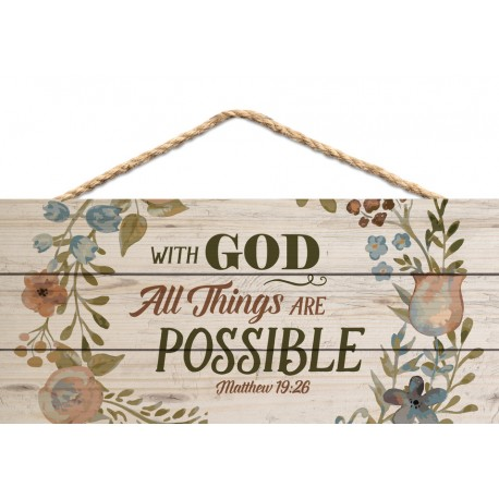 Holzschild: With God