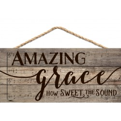 Holzschild: Amazing grace