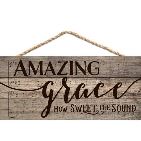 Holzschild: Amazing grace