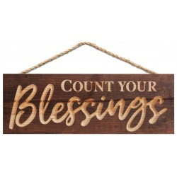 Holzschild: Count your blessings