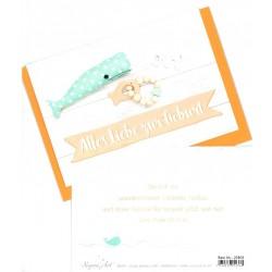 Faltkarte zur Geburt - Alles Liebe zur Geburt