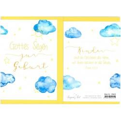 Faltkarte zur Geburt - Geschenk des Herrn
