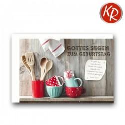 Faltkarte zum Geburtstag - Küchenregal