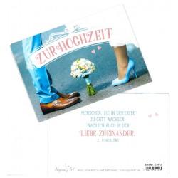 Faltkarte zur Hochzeit - In Liebe