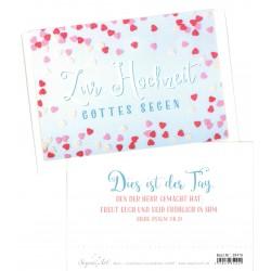 Faltkarte zur Hochzeit - Dies ist der Tag