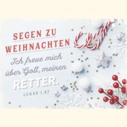 Postkarte zu Weihnachten - Retter