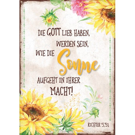 Postkarte - Sonne, Sonnenblumen