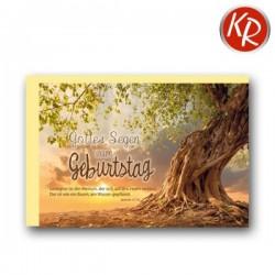 Faltkarte zum Geburtstag - Baum