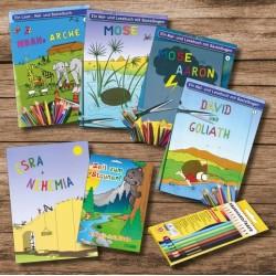 """Buchpaket """"Ausmalen"""" - 6 Hefte und ein Set Buntstifte"""