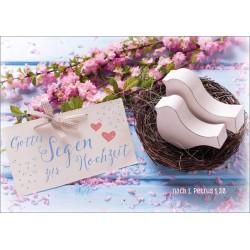 Faltkarte zur Hochzeit - Vogelnest