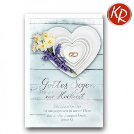 Faltkarte zur Hochzeit - Herz-Teller