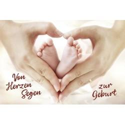 Faltkarte zur Geburt - Von Herzen Segen