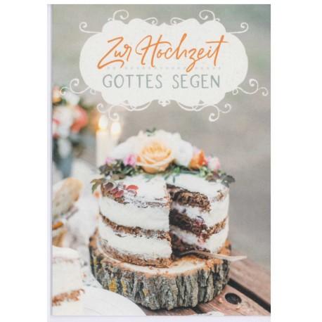 Faltkarte zur Hochzeit - Kuchen