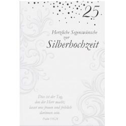 Faltkarte zur Silberhochzeit - Dies ist der Tag