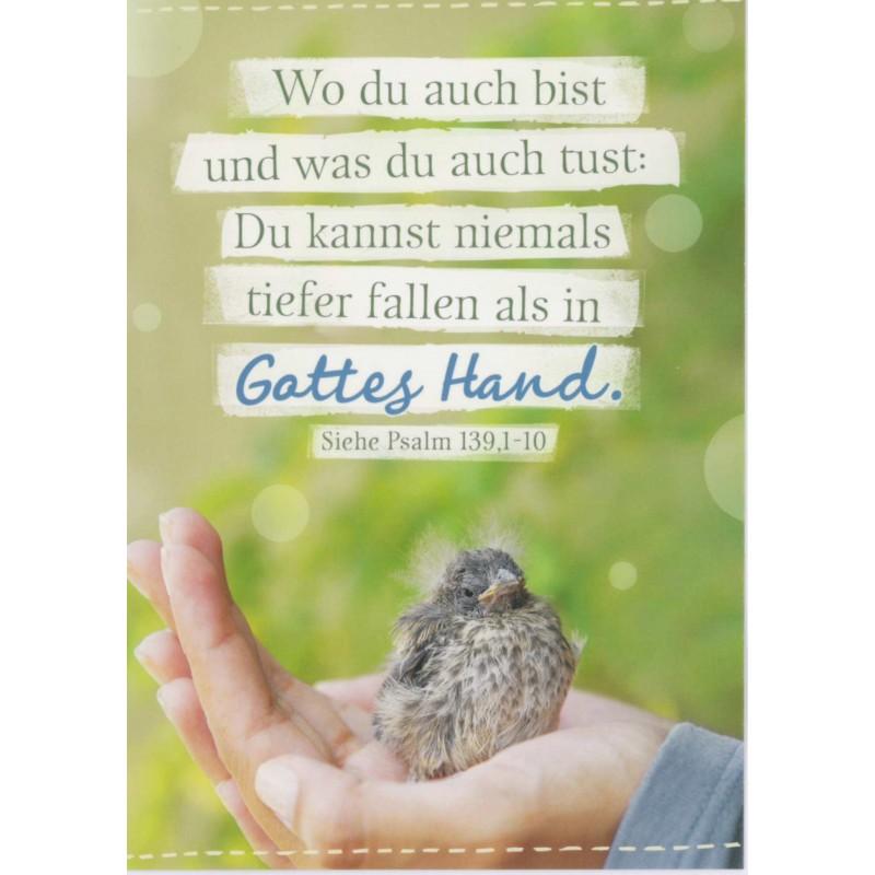 In Gottes Hand Postkarte