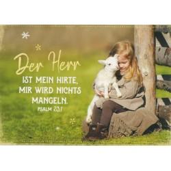 Postkarte - Mein Hirte
