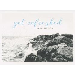 Postkarte - Get refreshed