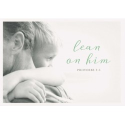 Postkarte - Lean on him