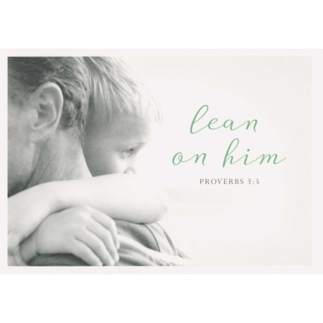 Postkarte - Lean on him