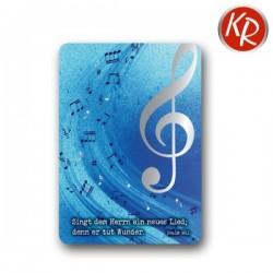 Postkarte - Notenschlüssel