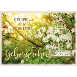 Postkarte - Geborgenheit / Vogelkäfig