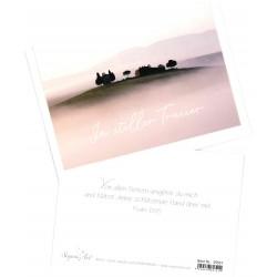 Faltkarte Trauer - In stiller Trauer