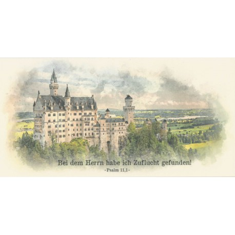 Faltkarte Life-is-more Art - Schloss