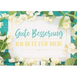 Faltkarte zur Genesung - Blüten