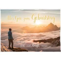 Postkarte zum Geburtstag - Lebenskraft