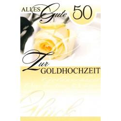 Faltkarte zur Goldhochzeit - Rose