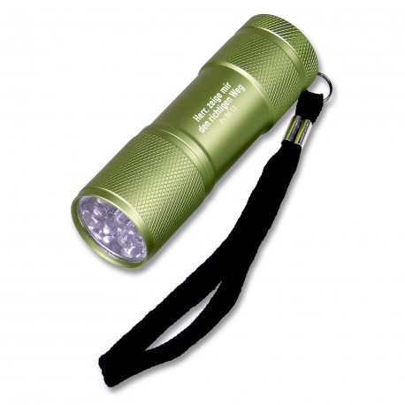 LED-Taschenlampe aus Aluminium - grün