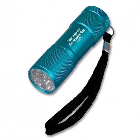 LED-Taschenlampe aus Aluminium - blau