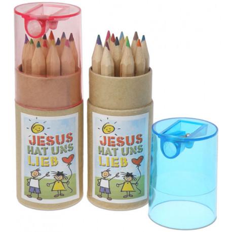 Mini-Stiftebox mit Spitzer, blau