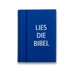 "Radierer Buch ""Lies die Bibel"" blau"