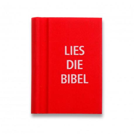 """Radierer Buch """"Lies die Bibel"""" rot"""