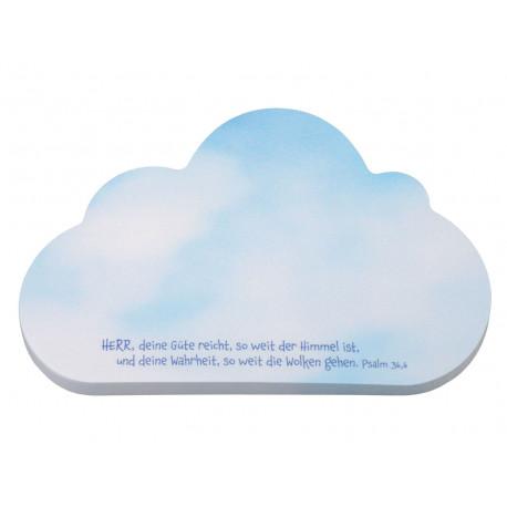 Haftnotiz Wolke, Herr deine Güte ...