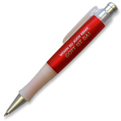 "Kugelschreiber ""Wohin du auch gehst ..."" rot"