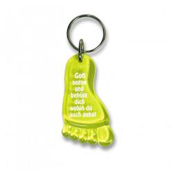 Schlüsselanhänger Fuß - gelb