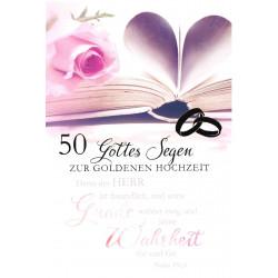Faltkarte zur Goldhochzeit - Gnade und Wahrheit