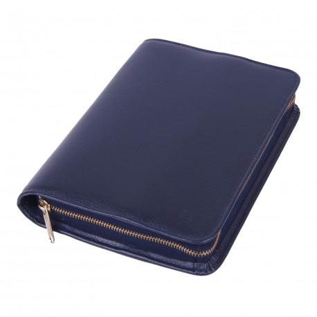 Bibelhülle, Smart, blau für Schreibrandbibel (größere Ausgabe)