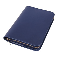 Bibelhülle, Kunstleder, Nappa-Soft, blau für Schreibrandbibel/gr
