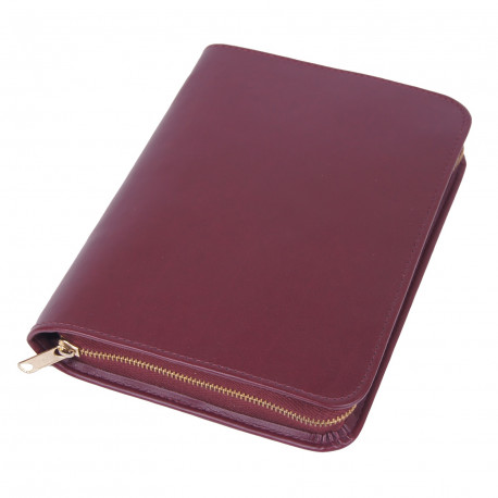 Bibelhülle, Kunstleder, Nappa-Soft, weinrot für Schreibrandbibel