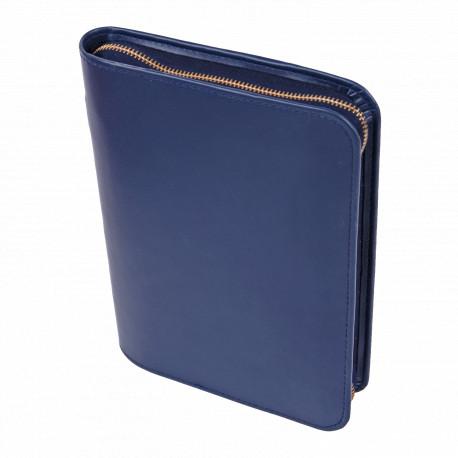 Bibelhülle, Kunstleder, Nappa-Soft, blau für Schreibrandbibel/kl