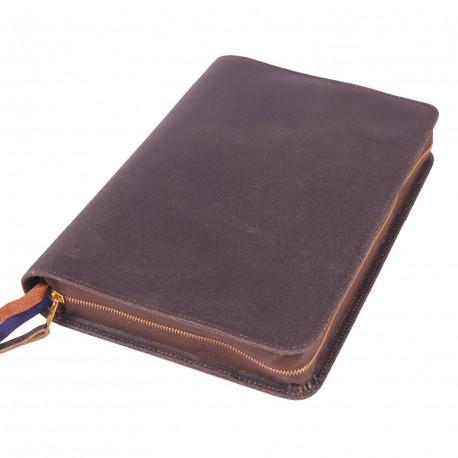 Bibelhülle, Texas, Leder im Used-Look, braun für Standardbibeln